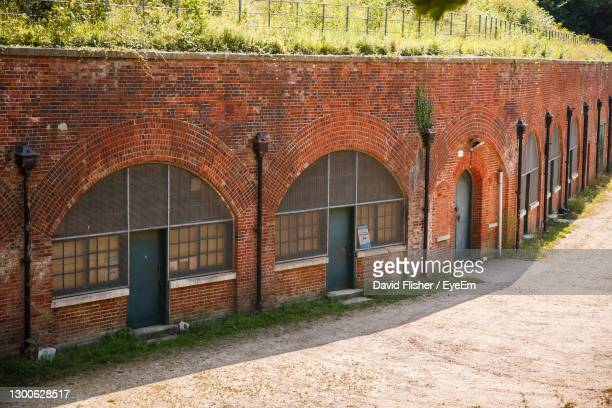 hilsea lines ramparts bastion in portsmouth united kingdom - portsmouth england stock pictures, royalty-free photos & images
