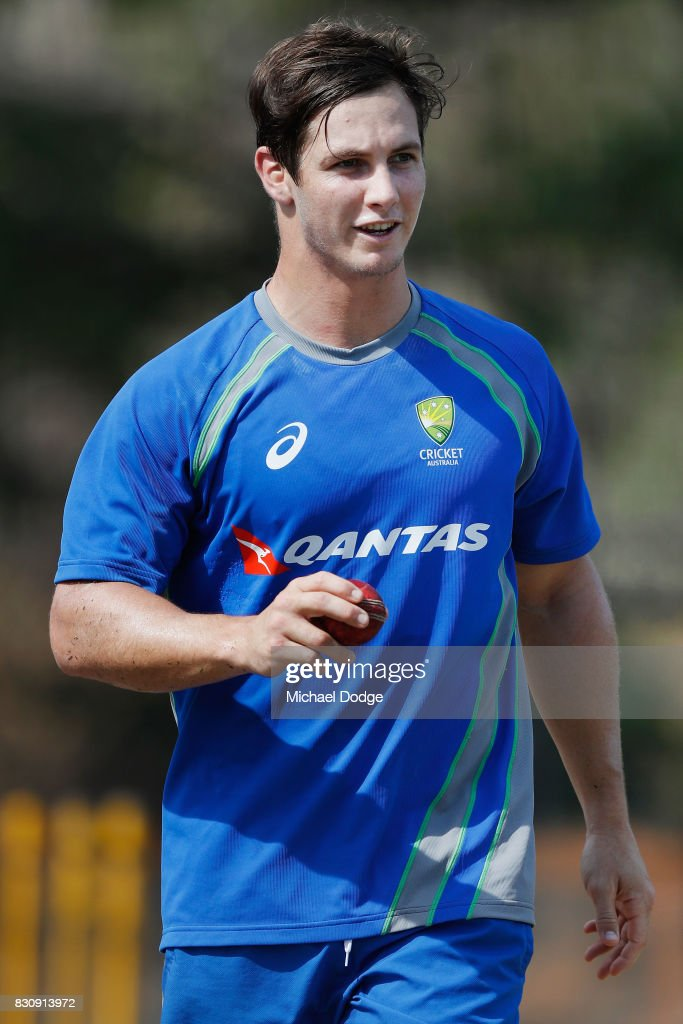 Hilton Cartwright looks on during an Australia Test cricket squad training session at Marrara Cricket Ground on August 13, 2017 in Darwin, Australia.