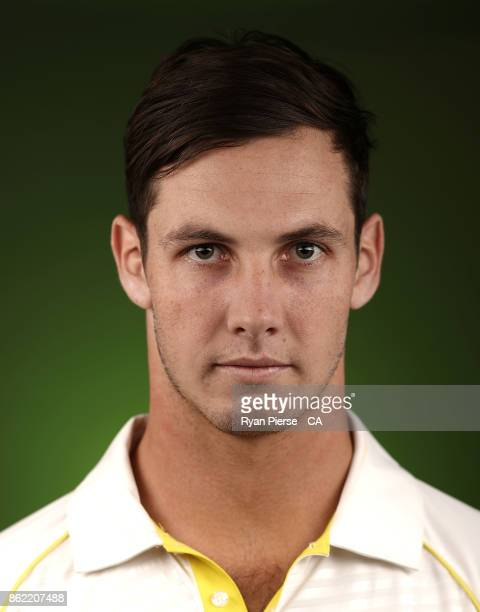 Hilton Cartwright of Australia poses during the Australia Test cricket team portrait session at Intercontinental Double Bay on October 15 2017 in...