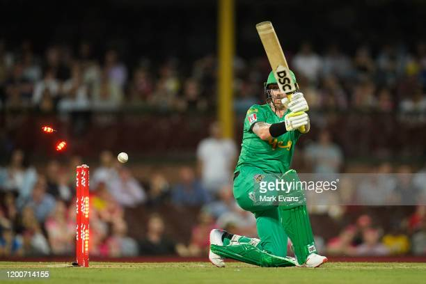 Hilton Cartwright of the Stars is bowled during the Big Bash League match between the Sydney Sixers and the Melbourne Stars at Sydney Cricket Ground...