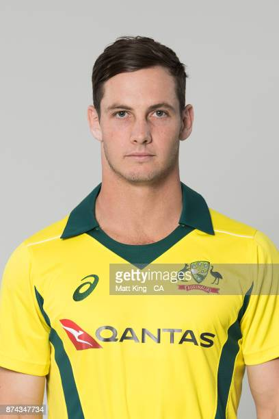 Hilton Cartwright poses during the Australia One Day International Team Headshots Session at Intercontinental Double Bay on October 15 2017 in Sydney...