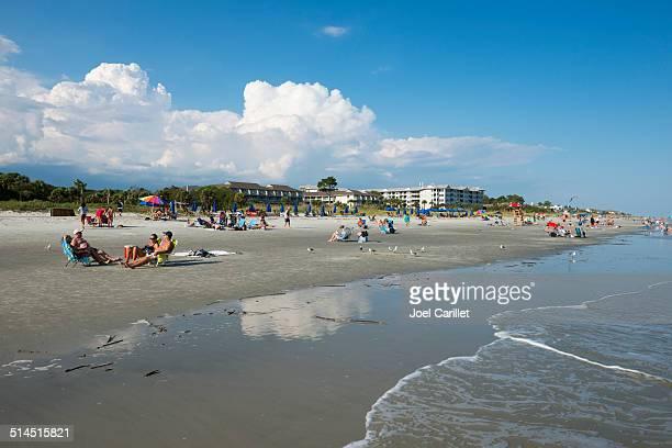 hilton head island beach - hilton head stock pictures, royalty-free photos & images
