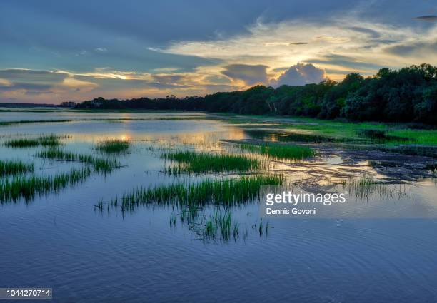 hilton head sunset - hilton head stock pictures, royalty-free photos & images