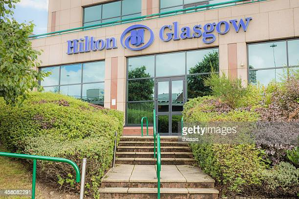 hilton hotel, glasgow - theasis stock pictures, royalty-free photos & images