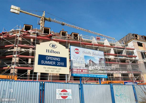 Hilton hotel under construction in the old town district of Gdansk Poland