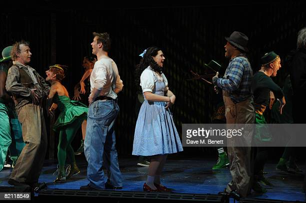 Hilton McCrae Adam Cooper Sian Brooke and Gary Wilmot take their curtain call on the opening night of The Wizard of Oz at the Royal Festival Hall on...
