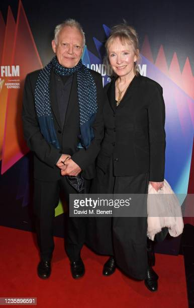 """Hilton McRae and Lindsay Duncan attend the UK Premiere of """"A Banquet"""" during the 65th BFI London Film Festival at the Curzon Soho on October 15, 2021..."""