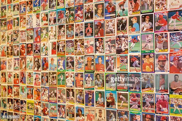 Hilton St Louis at the Ballpark hotel baseball cards display