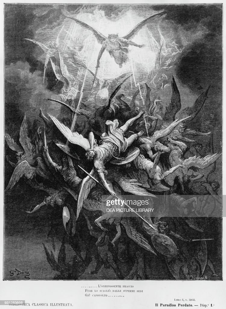 Illustration for Book I of Paradise Lost : News Photo