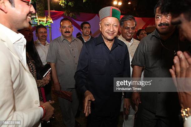 Himachal Pradesh Chief Minister Virbhadra Singh at the Wedding ceremony of Lawyer Ashok Basoya and ex Delhi University Student Union president Ragini...
