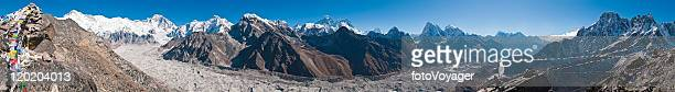 Himalaya Everest mountain peaks panorama Cho Oyu Gokyo glacier Nepal