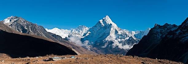 Himalaya Snow Summits Remote Mountain Lodge Ama Dablam Panorama Nepal Wall Art