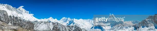 Himalaya-Berggipfel Panorama Nupte Lhotse Makalu Ama Dablam Nepal