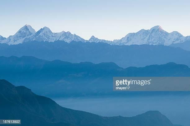 Himalayan mountains dawn