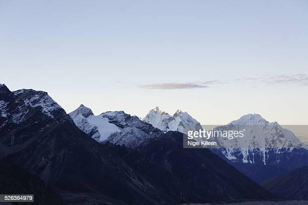 Himalayan peaks at dawn, Kala Pattar