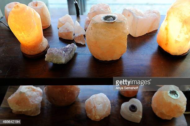 Himalayan Salt Lamps available at 5 Star Salt Caves Wellness Center on October 16 in Denver, Colorado. 5 Star Salt Caves Wellness Center opened in...