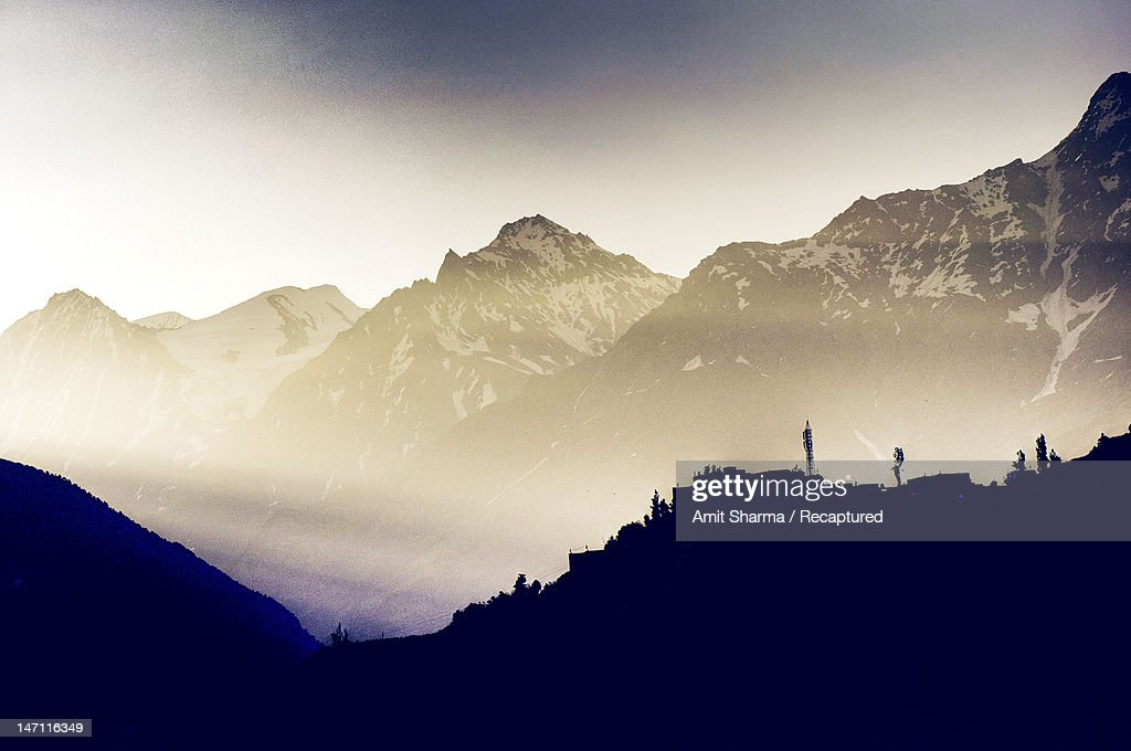 Himalayas in  morning : Stock Photo