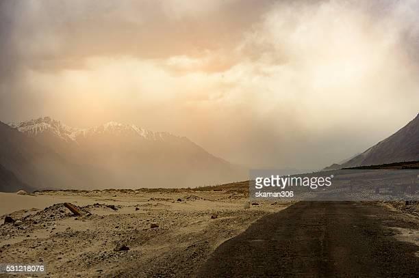himalayas Mountain range on the way to Nabra valley leh ladakh