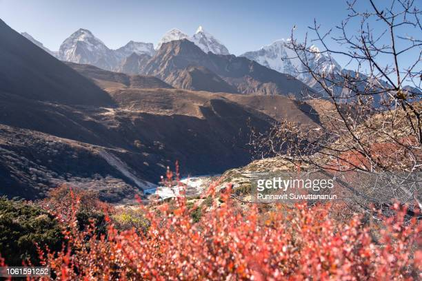 Himalayas mountain view including Kangtega and Thamserku, Everest region, Nepal