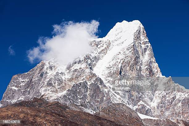 himalayas panorama - taboche peak - stupa stock pictures, royalty-free photos & images