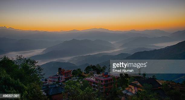 Himalayas sunrise view from Nagarkot, Nepal