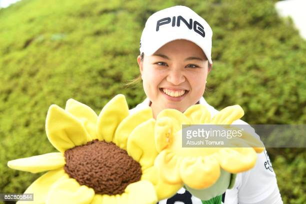 Himawari Ogura of Japan smiles during the final round of the Miyagi TV Cup Dunlop Ladies Open 2017 at the Rifu Golf Club on September 24 2017 in Rifu...