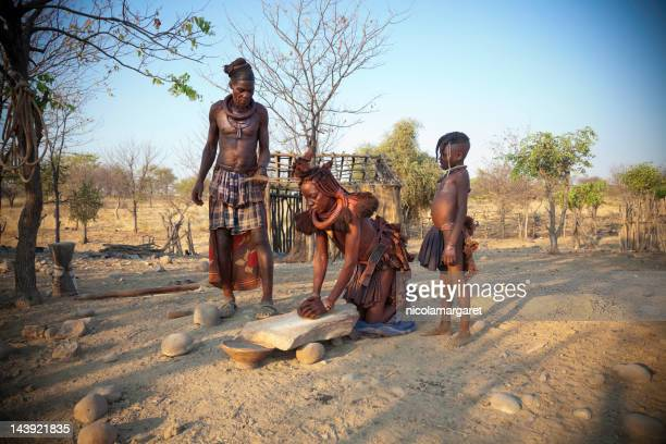 himba family - southern africa stock pictures, royalty-free photos & images