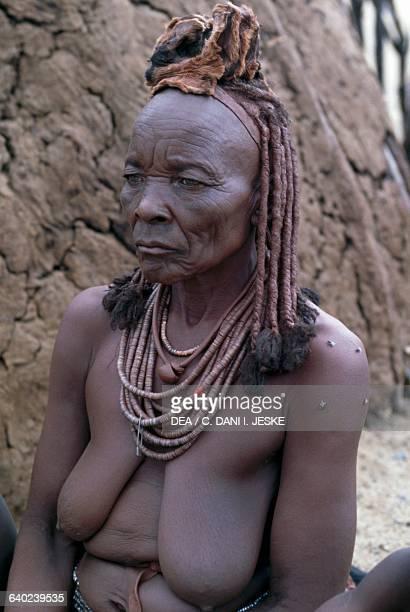 Himba woman in a village Kaokoland region Namibia