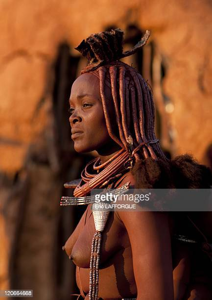 Himba Woman in Okapale Area Namibia on August 18 2010
