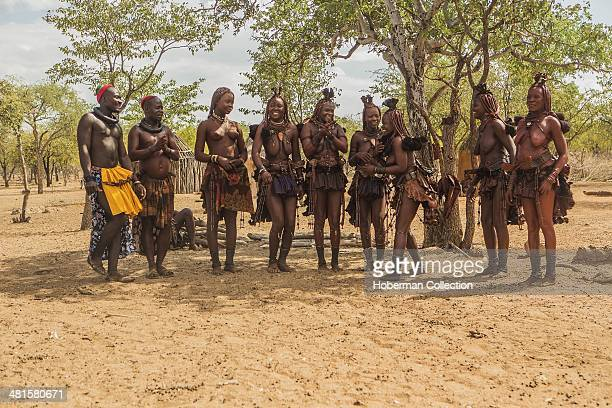 Himba Women Dancing And Clapping Hands At Their Village Near Opuwo Namibia