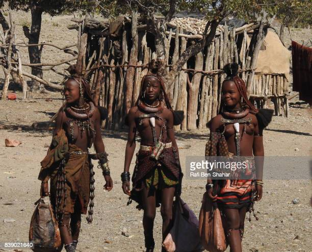Himba women in their village in the Kaokoveld