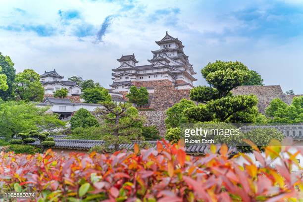 himeji castle as seen from the public park - 兵庫県 ストックフォトと画像