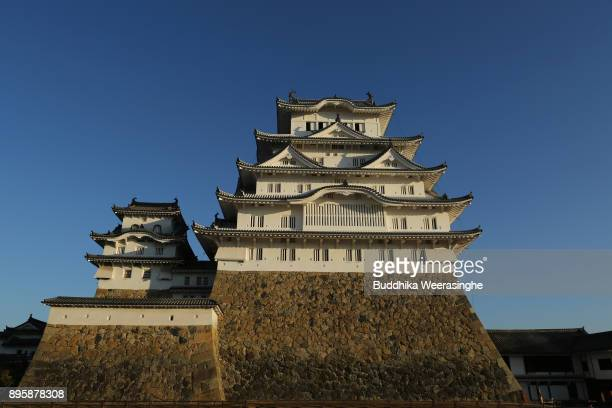 Himeji Castle building is seen during the annual cleaning day ahead of the new year at the Himeji Castle on December 20 2017 in Himeji Japan Special...
