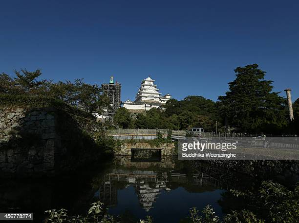 Himeji Castle main tower building is seen from east side after five years fullscale restoration work on october 7 2014 in Himeji Japan Himeji Castle...