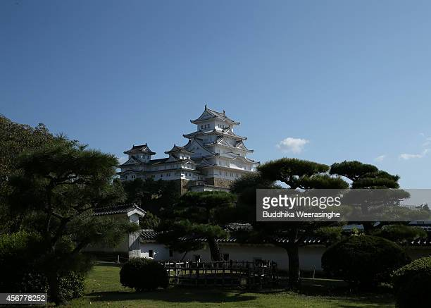 Himeji Castle main tower building is seen from west view after five years fullscale restoration work on october 7 2014 in Himeji Japan Himeji Castle...