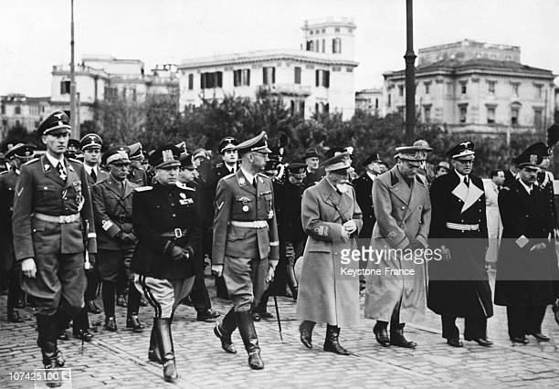 Himmler Marshall Bono And Grandi The Burial Of Bocchini At Rome In Italy On November 25Th 1940