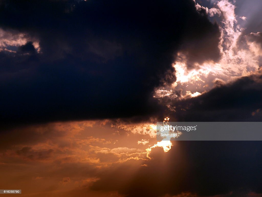 Himmlischer Lichtblick : Foto de stock