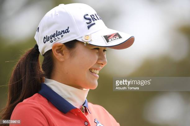 Hina Arakaki of Japan smiles during the final round of the World Ladies Championship Salonpas Cup at Ibaraki Golf Course West Course on May 6 2018 in...