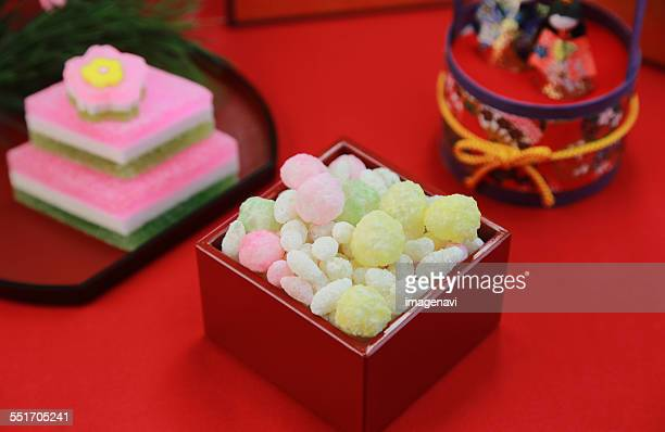 Hina arare (Traditional sweet for Girls day in Japan)