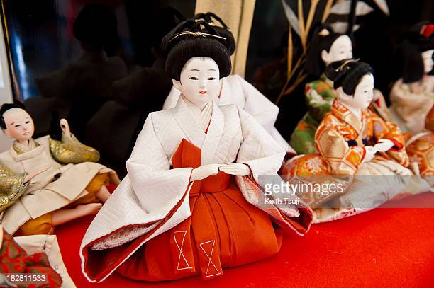 Hina Dolls are displayed on February 27 2013 in Konosu City Hall Saitama Japan The Japanese Doll Festival or Girls' Day is held on March 3rd...