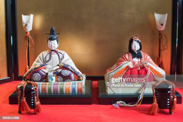 hina dolls - hinamatsuri stock pictures, royalty-free photos & images