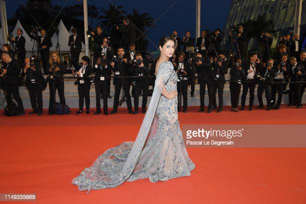 Hina Khan attends the screening of Bacurau during the 72nd annual Cannes Film Festival on May 15 2019 in Cannes France