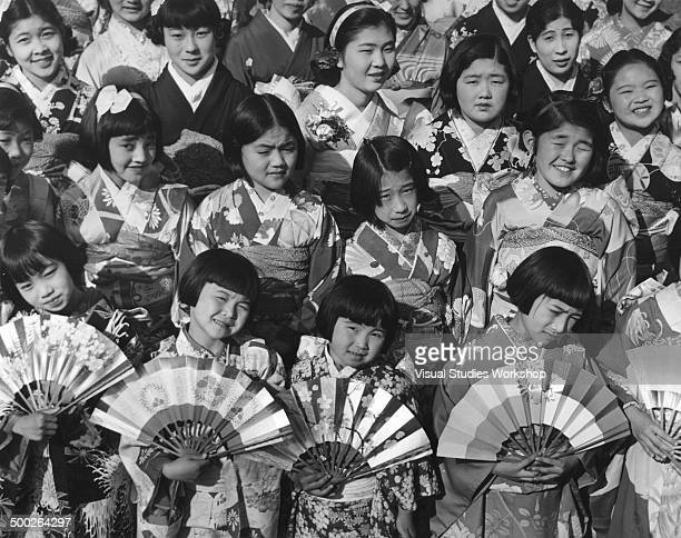 Hina Matsuri or Girl Doll Day Festival being celebrated by the largest Japanese colony in America half of whom are Americanborn Los Angeles...