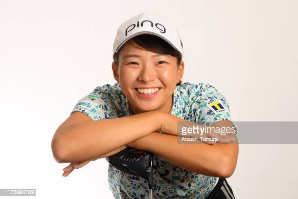 Hinako Shibuno of Japan poses during the Japanese LPGA Portrait session at the Cherry Hills Golf Club on September 11 2019 in Miki Hyogo Japan