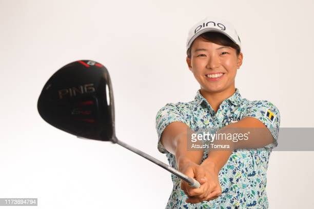 Hinako Shibuno of Japan poses during the Japanese LPGA Portrait session at the Cherry Hills Golf Club on September 11, 2019 in Miki, Hyogo, Japan.