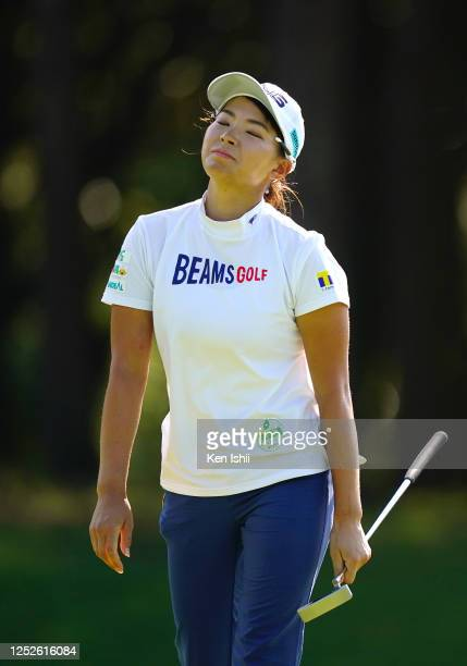 Hinako Shibuno of Japan shows dejection on the on the 7th green during the second round of the Earth Mondamin Cup at the Camellia Hills Country Club...