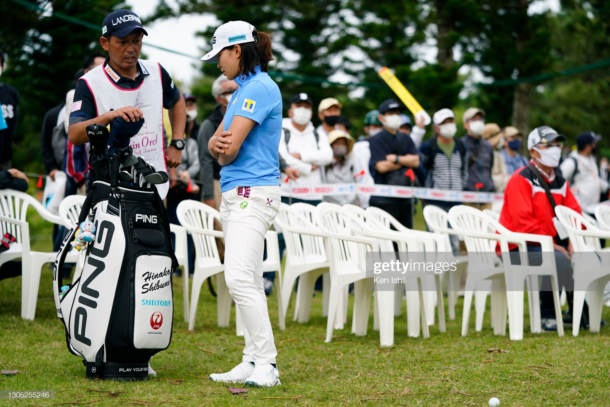 https://media.gettyimages.com/photos/hinako-shibuno-of-japan-talks-with-her-caddie-before-an-approach-on-picture-id1305255246?s=2048x2048
