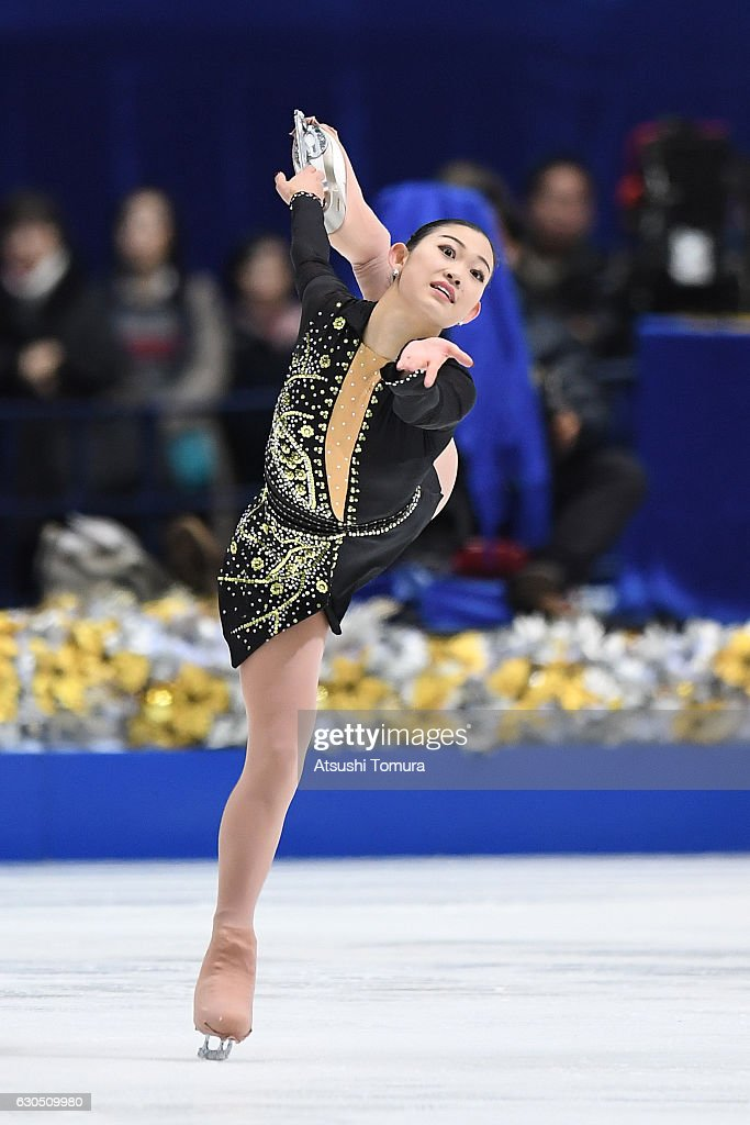 Hinano Isobe of Japan competes in the Ladies free skating during the Japan Figure Skating Championships 2016 on December 25, 2016 in Kadoma, Japan.