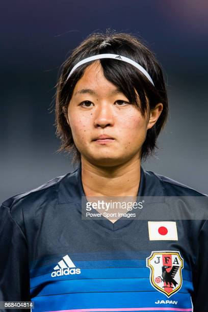 "Hinata Miyazawa of Japan during their AFC U-19 Women""u2019s Championship 2017 Group Stage B match between Australia and Japan at Jiangning Sports..."