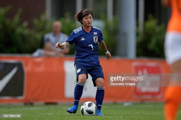 Hinata Miyazawa of Japan Women U20 during the match between Holland Women U20 v Japan Women U20 at the Sportpark Zuid on July 29, 2018 in Groesbeek